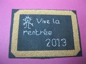 """Titre """"Vive la rentrée 2013"""""""